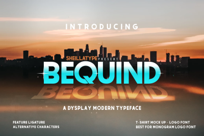 BEQUIND modern typeface