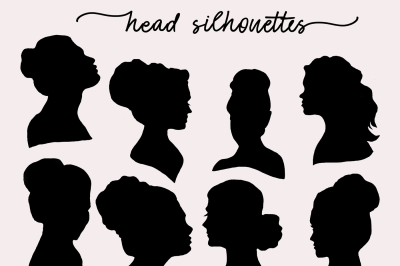 Girl Head Silhouettes