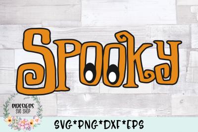 Spooky Eyes Halloween Word Art SVG