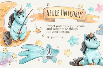 Azure Unicorns set +6 patterns