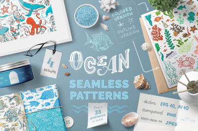 Ocean Seamless Patterns Pack