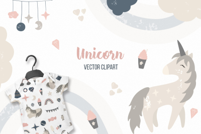 Unicorn Vector clipart