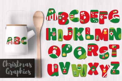 Christmas Alphabet Uppercase Letters