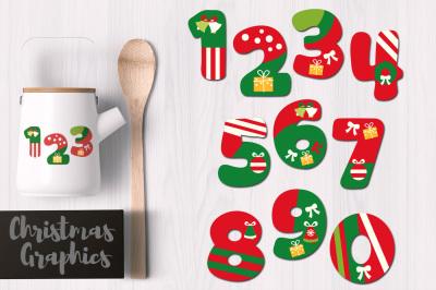 Christmas Numbers Graphics