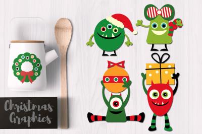 Christmas Monsters Graphics
