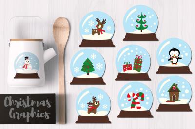 Christmas Snowglobes Graphics
