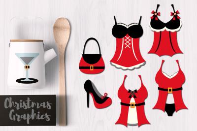 Christmas Santa Red Lingerie