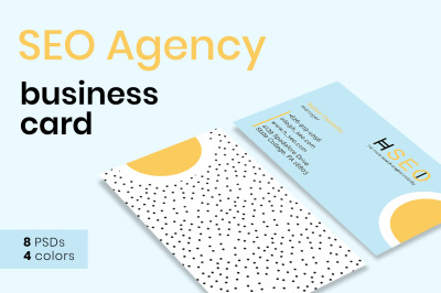 SEO Agency Business Card Templates