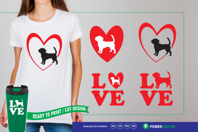 Love Dogs - Dog Svg Files for Silhouette & Cricut
