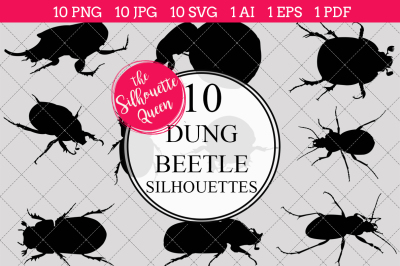 Dung Beetle Silhouettes