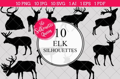 Elk Silhouette Vectors