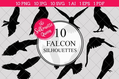 Falcon Silhouettes Vector