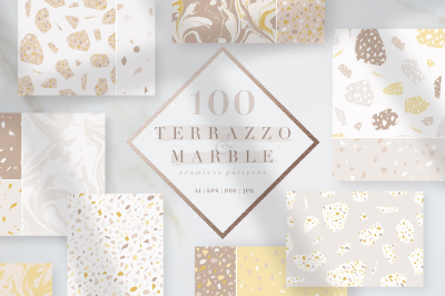 100 Terrazzo & Marble patterns