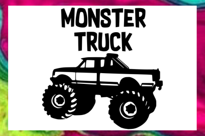 Monster Truck SVG PNG DXF Design Files for Cricut & Silhouette Machine