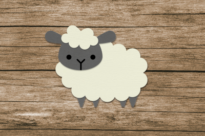 Fluffy Sheep | SVG | PNG | DXF