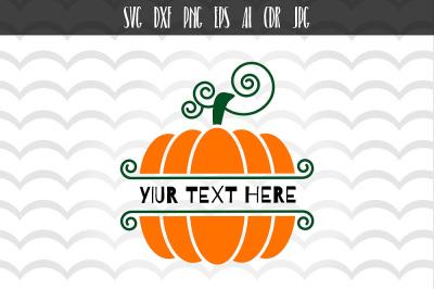 Pumpkin svg, Pumpkin halloween monogram svg