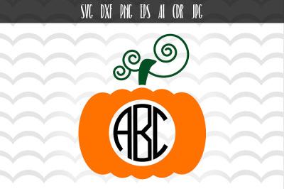 Pumpkin Monogram Frames SVG