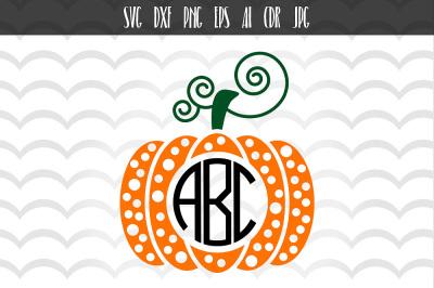 Pumpkin Monogram Cut File