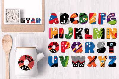 Alphabet Uppercase Superhero
