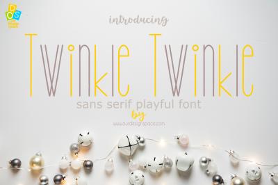 Twinkle Twinkle Sans Serif Font