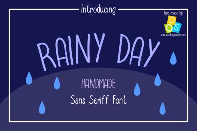Rainy Day Handmade Sans Serif Font