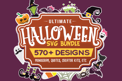 Halloween SVG Ultimate Bundle in SVG, DXF, PNG, EPS