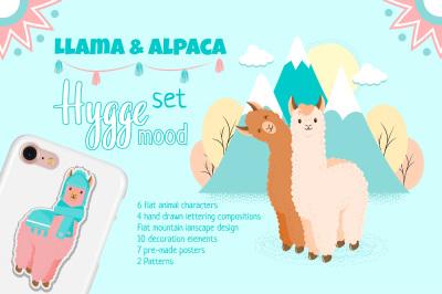 Llama and Alpaca Hygge Set