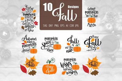 10 Fall Designs SVG
