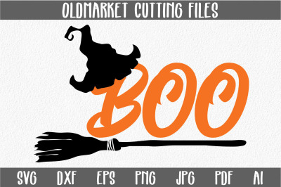 Boo SVG Cut File - Halloween SVG Cut File