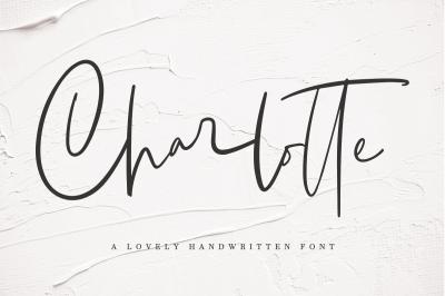 Charlotte | Handwritten Font