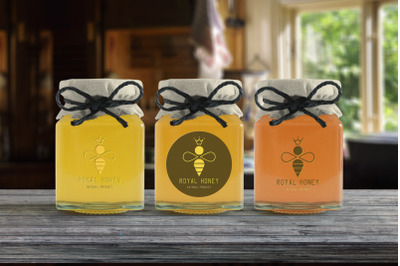 Royal Honey Logo Design and Patterns