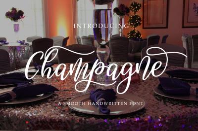 Champagne script