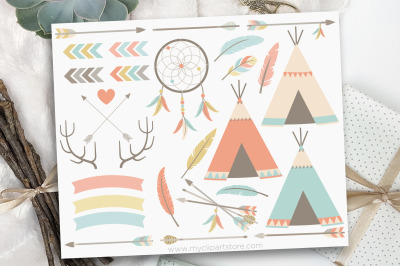 Tribal Elements (#1) / American Indian Vector Clipart