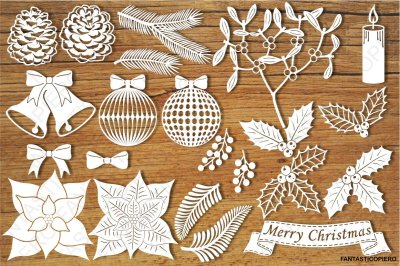 Christmas Decorative Elements SVG
