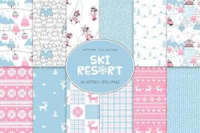 Ski Resort pattern set