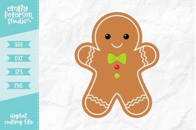 Gingerbread Man SVG DXF