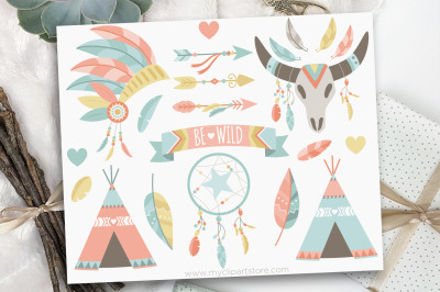 Boho Elements (#1) / American Indian Vector Clipart