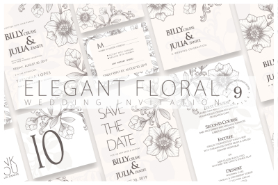 Elegant Floral - Wedding Invitation Ac.66
