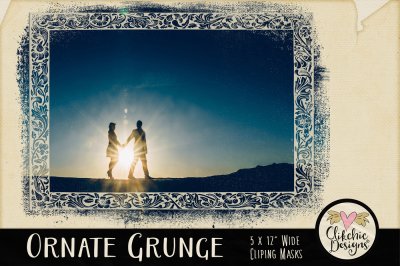 Ornate Grunge Photoshop Clipping Masks - Photoshop Masks