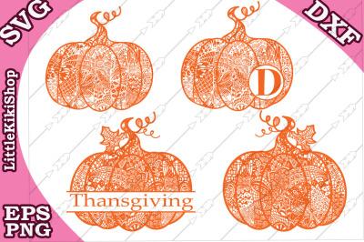 Bundle Pumpkin Svg, THANKSGIVING SVG, Mandala Pumkin