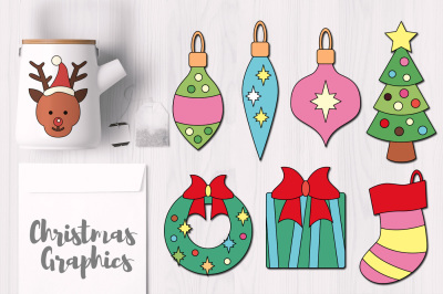 Christmas Objects Simple Graphics