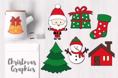 Chrismas Objects Simple Graphics