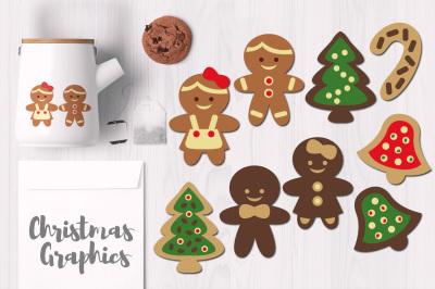 Gingerbread Man Christmas Cookies