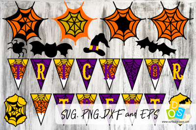 Trick Or Treat Layers SVG Banner
