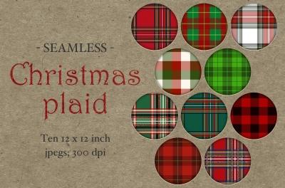 Seamless Christmas Plaid