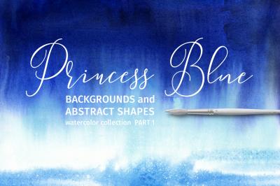 Princess Blue. Watercolor set