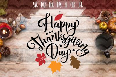 Happy Thanksgiving day SVG