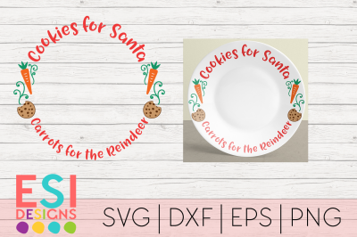 Christmas SVG | Cookies for Santa, Carrots for the Reindeer