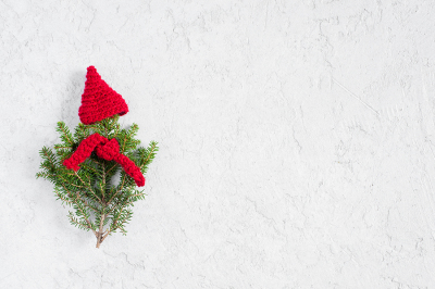 White background with Christmas tree