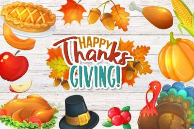 Thanksgiving day - vector Illustrations